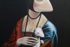 Die Fröschin mit dem Hermelin